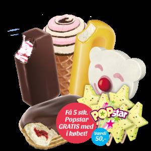 Familiepakken + 5 stk. Popstar