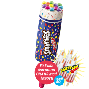 Smarties Pop Up + 6 stk. gratis Astronaut