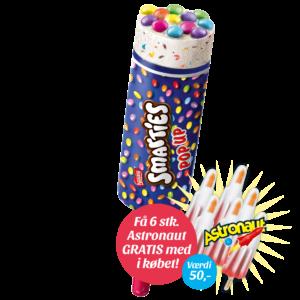 Smarties Pop Up + 6 stk. gratis Astronaut
