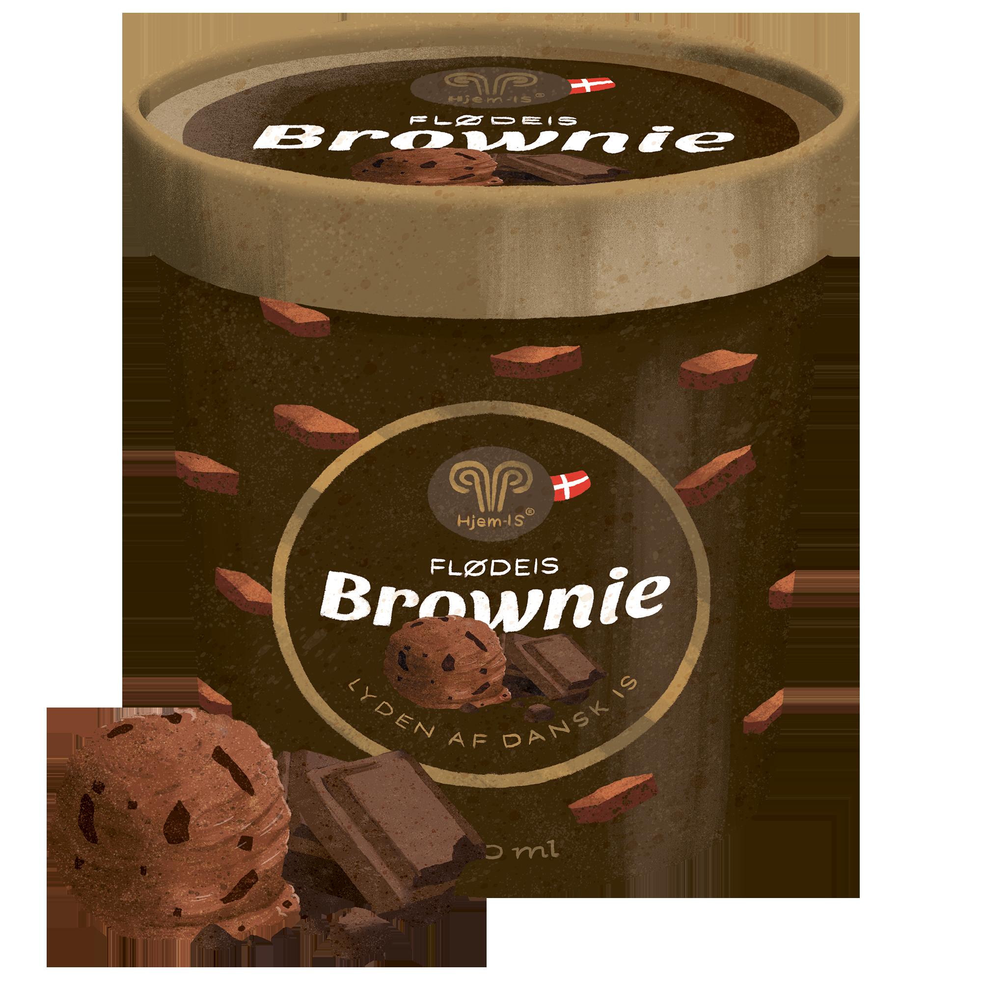 Brownie Flødeis