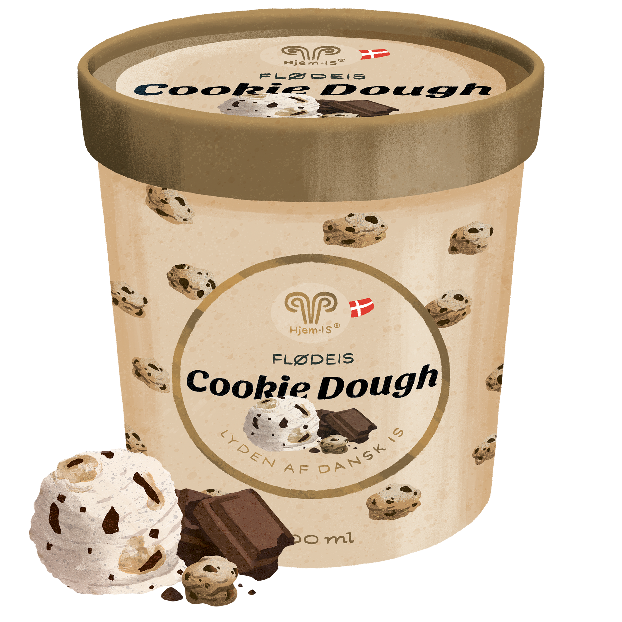 Cookie Dough Flødeis
