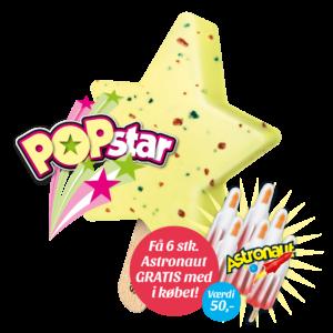 Popstar + 6 stk. gratis Astronaut
